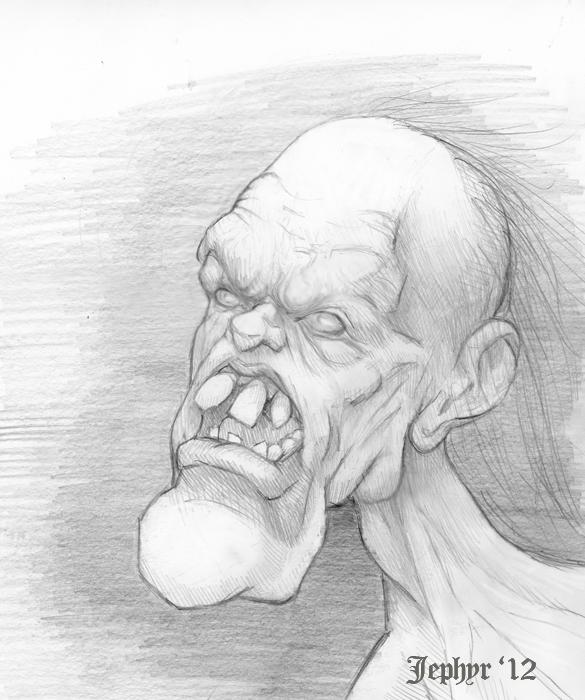 Jephyr Art - Sketchbook - Cartoon / Caricature - Halloween Dood - de'Viladeux