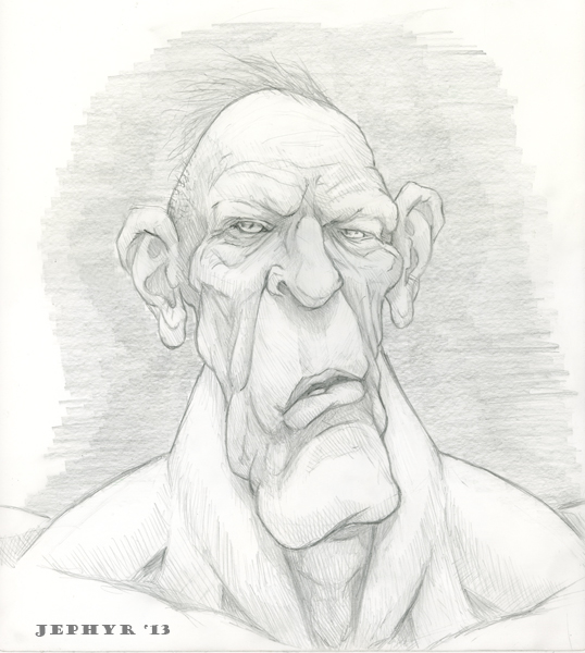 'Bitt' - Pencil Sketch- Copyright 2013, Jephyr (Jeff Curtis), All Rights Reserved