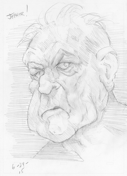 'Hubert' - Pencil Sketch- Copyright 2015, Jephyr (Jeff Curtis), All Rights Reserved