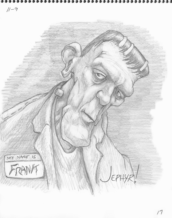 """My Name Is Frank"" - Pencil Sketch - Copyright 2017, Jephyr (Jeff Curtis), All Rights Reserved"