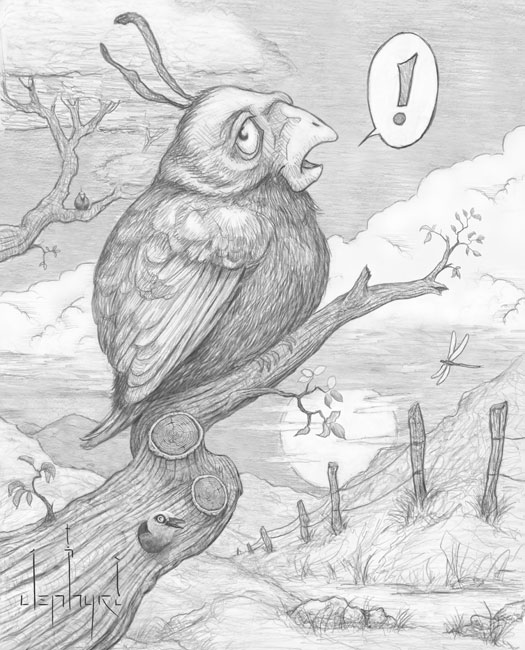 """TWEET!; - Pencil Drawing - Copyright 2019, Jephyr (Jeff Curtis), All Rights Reserved"