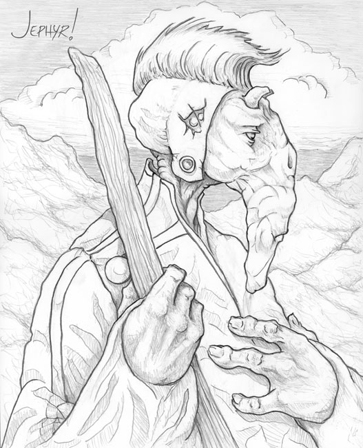 """The Shepherd"" - Pencil Drawing - Copyright 2019, Jephyr (Jeff Curtis), All Rights Reserved"