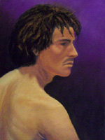 Please click on this image to see a larger version of this Pastel Portrait created by Artist Jeff Curtis for Mesa Community College, Art Life Drawing III.