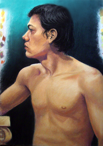 Image:  Copyright 2009, Jeff Curtis, All Rights Reserved.  Life Drawing III - Pastel Drawing.  This pastel drawing is one of four pieces for Portfolio 2.