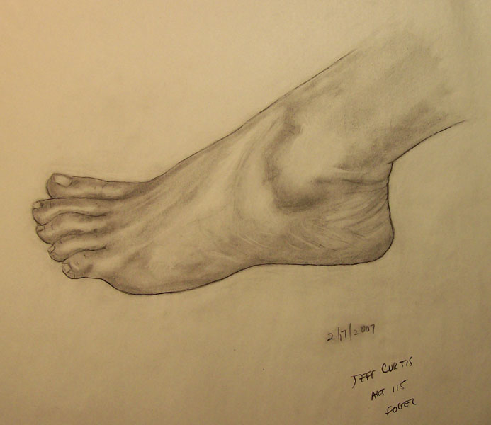 Artist Jeff Curtis, Female foot study