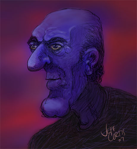 Image:  Copyright 2007, Jephyr (Jeff Curtis), All Rights Reserved.  A Sketchbook Pro and Wacom Intuos Painting/Caricature:  Graveyard Louie!