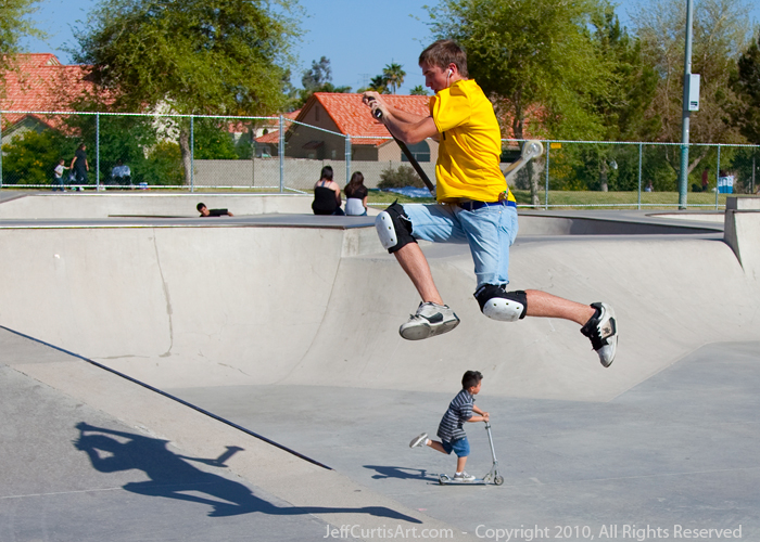 Photo:  Copyright 2010, Jeff Curtis, All Rights Reserved. Canon EOS-5D Mark II Photo. Taken at Freestone Skate Park, Gilbert, Arizona