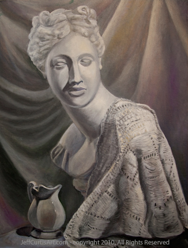 Image:  Copyright 2010, Jeff Curtis, All Rights Reserved. Etude Classique, oil painting on canvas board.