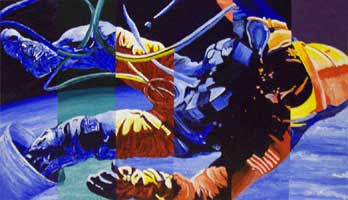 "Fall 2006, Color Theory , Painting Assignment:  ""Space Walk"""